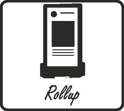 Realizzazione rollup ed espositore